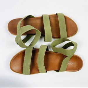 Universal Thread | Green Stappy Sandals